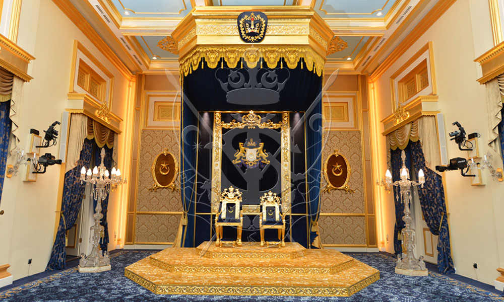 Throne Coronation Of Hrh Sultan Ibrahim Of Johor